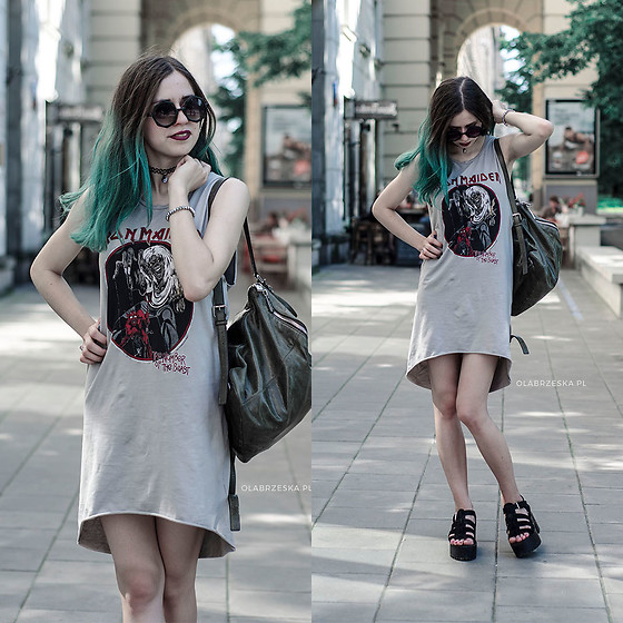 Ola Brzeska - H&M Iron Maiden Dress, Pull & Bear Sandals, Michael Kors Vintage Backpack - Number of the Beast