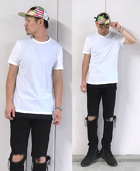 ★masaki★ - Marc By Jacobs Cap, Alexander Wang Tee, Mnml Brokenjeans, Adidas Tubler - Trash style 198
