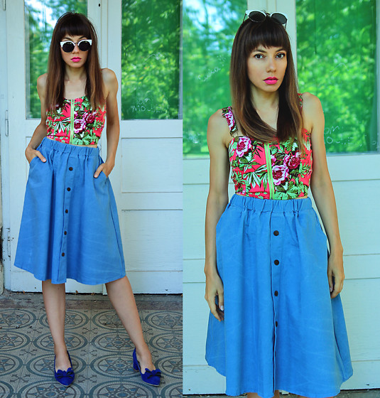 Jointy&Croissanty © -  - Denim midi skirt