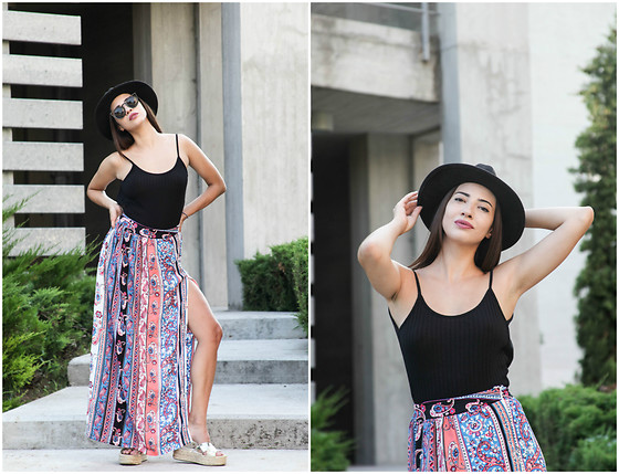Christy Jaldori - Sammydress Skirt, Stradivarius Shoes, H&M Hat - BOHO VIBES