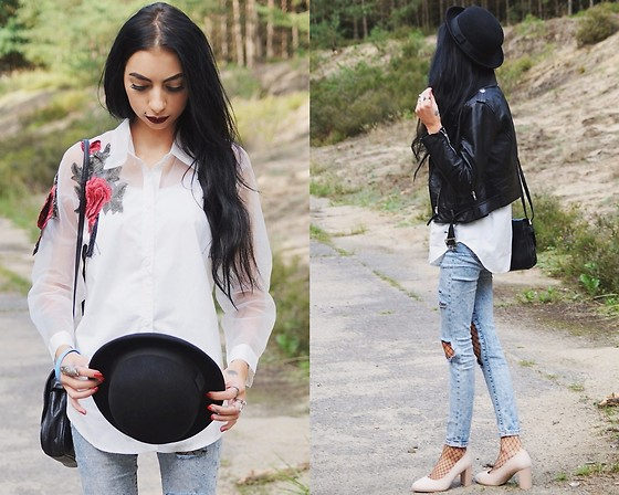 Katarzyna Klara Zaród - Zaful Shirt, Bershka Jeans, Deezee Shoes, H&M Hat, H&M Jacket - Zaful review || part3