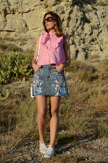 Elisabeth Green - Zaful Denim Skirt - Denim Skirt