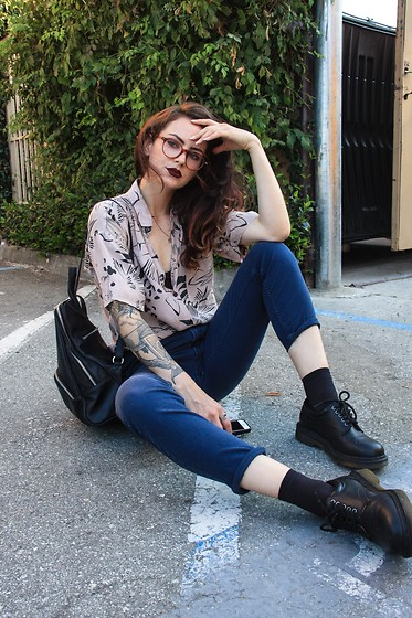 Wawa Baby - Dr. Martens Shoes, Warby Parker Glasses, Kadell Bag - Ashes to Ashes