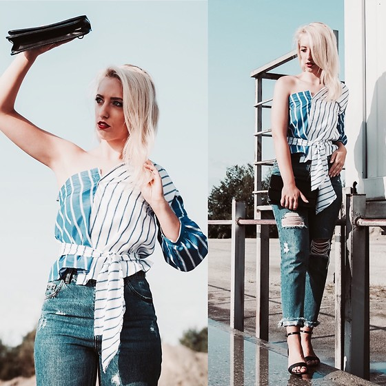 TheKAOZ - Romwe Shirt, Pull & Bear Jeans - SUMMER -STAY A LITTLE WHILE LONGER