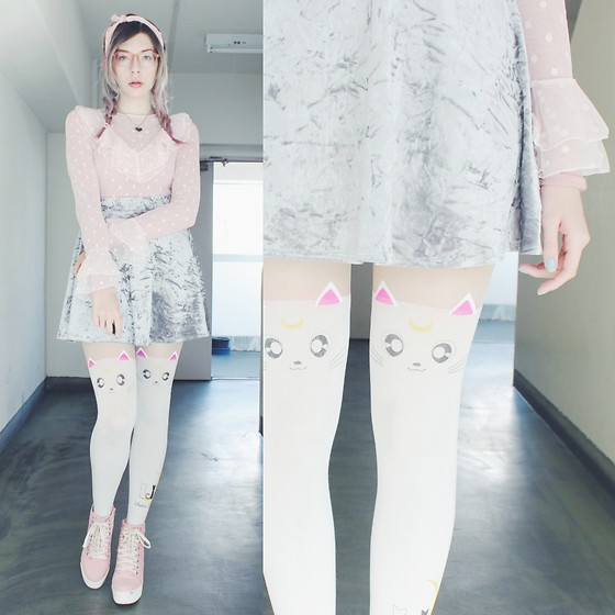 Candy Thorne - H&M Sheer Top, Ali Express Artemis Tights - Artemis