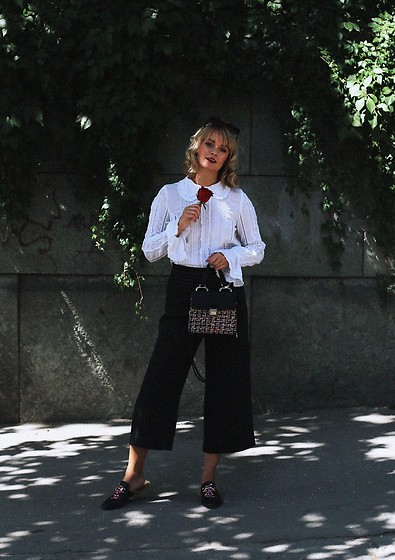 Ana Vukosavljevic - Metisu Pants, H&M Blouse, Zaful Bag, Ego Official Mules - Love poem
