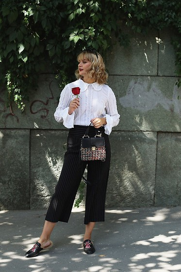 Ana Vukosavljevic - H&M Blouse, Metisu Pants, Zaful Bag, Ego Official Mules - Love poem