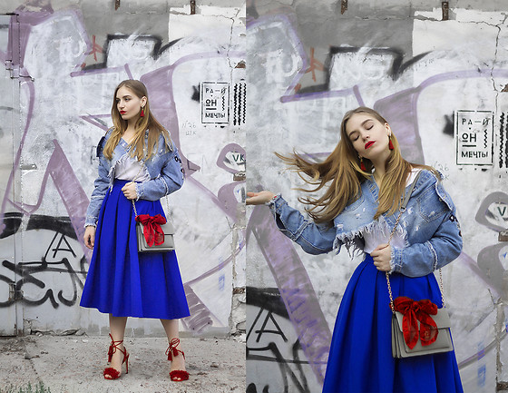 Daniela Guti - Denim Jacket, Shoes, Earring, Bag - Hello Autumn, Hello Denim Jacket