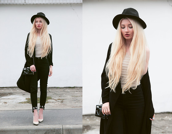 ♡Anita Kurkach♡ - Shein Trench, Shein Jeans, Shein Shoes, Shein Top, Shein Bag - BLACK & WHITE!