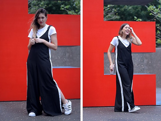 Amy Ramírez - Shein Jumpsuit - The eternal black and white