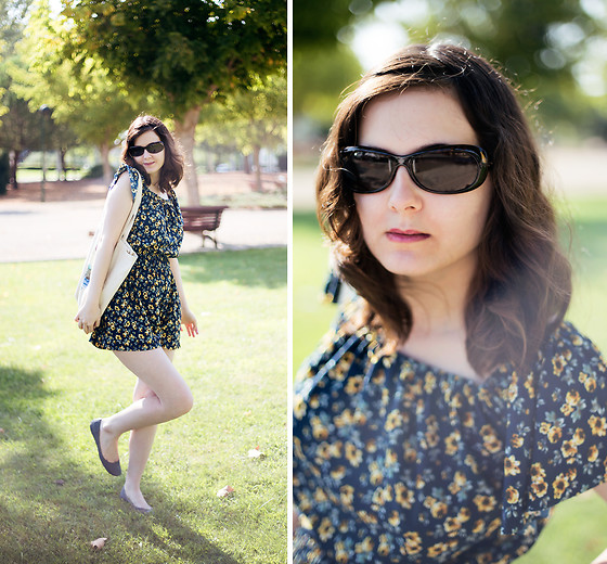 Lix H. - Serengeti Sunglasses, Mango Romper - Sunshine & Sunglasses