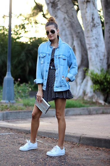 Marianela Yanes - El Corte Ingles Jacket, Fairy Season Dress, Adidas Sneakers - DOT DRESS