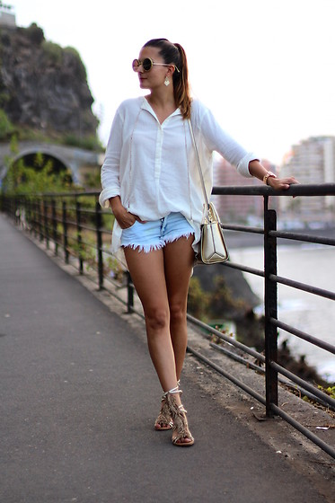 Marianela Yanes - Mango Shirt, Zara Short, Guess Bag - LAST SUNSET