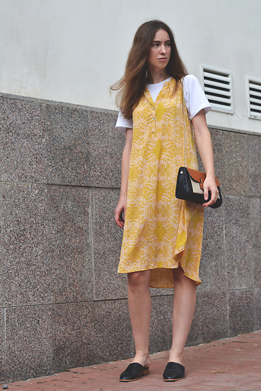Olga Dupakova - Lindex Dress, Zara Bag, Zara Shoes - Yelloy dress