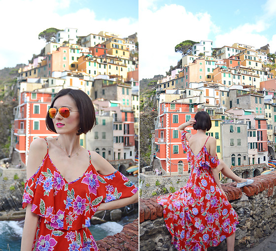 Daisyline . - Forever 21 Dress - Red dress and Cinque Terre / www.daisyline.pl