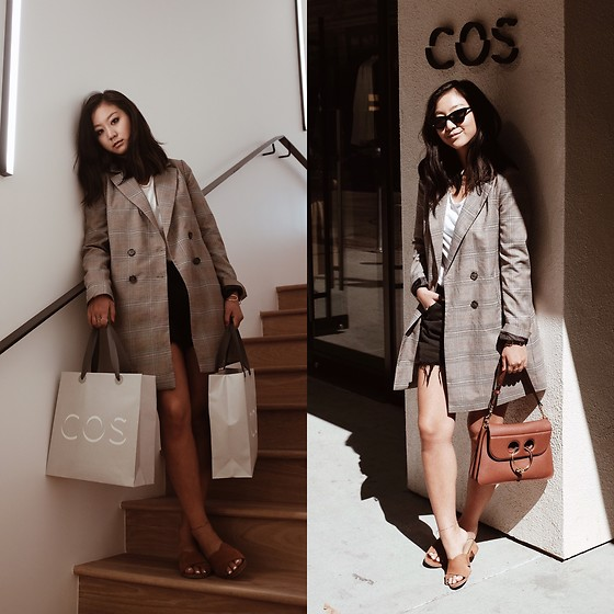 Tiffany Wang - Zara Blazer, Schutz Mules, Jw Anderson Purse, Levi's® Shorts, Cos Tee - ALL ABOUT COS