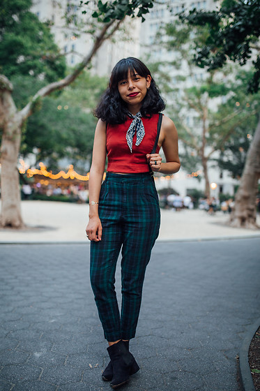 Brisa Gomez - Urban Outfitters Pants, Forever 21 Top, Madewell Neckerchief, Asos Boots - A Walk In The Park