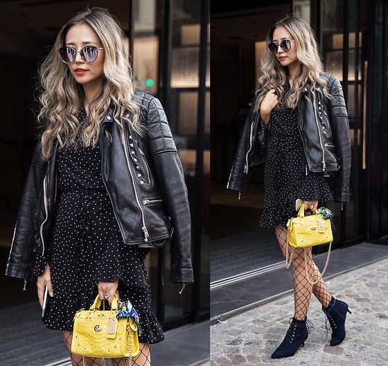 Queen Horsfall - All Saints, Storets, Dkny - #PFW STREET STYLE