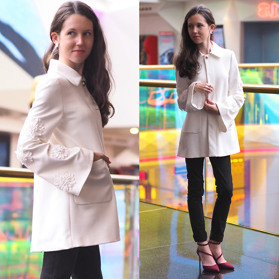 Claire H - Zara White Jacket, Aldo Stappy Heels - The white jacket