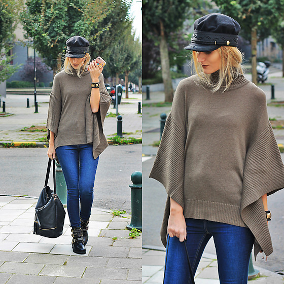 Ruxandra Ioana - Agnes Mason Poncho, Bullboxer Shoes Booties, Sterkowski Hat - Remember the name