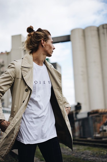 Richy Koll - Asos Suit Pants, Obey T Shirt, Urban Outfitters Coat - O B E Y .