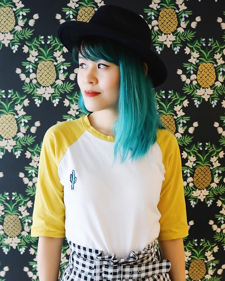 Nancy Qian - Depop, Romwe Embroidered Cactus Shirt - Stay tropical