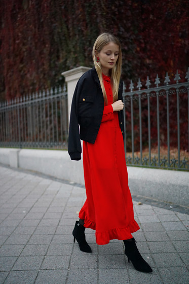 PATINESS - Blog, Instagram, Facebook - RED MAXI DRESS