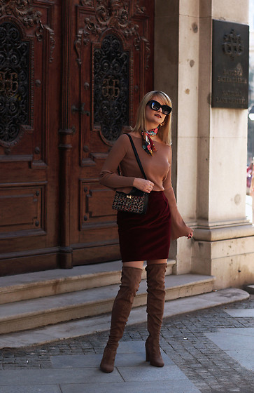 Ana Vukosavljevic - Metisu Top, Mamma Made It Skirt, Pink Basis Over The Knee Boots, Zaful Bag, Zara Bandana, Parfois Earrings - Why I Gave Up On Having An Instagram Theme