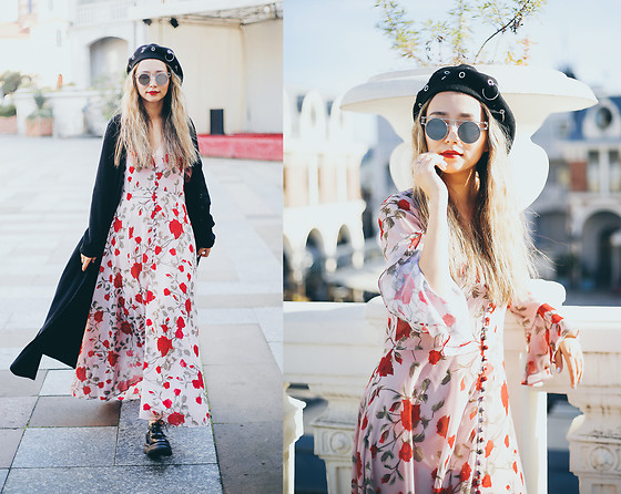Queen Horsfall - Fame & Partners, Asos Beret, Http://Www.Queenhorsfall.Com/ - Floral Trend in Fall