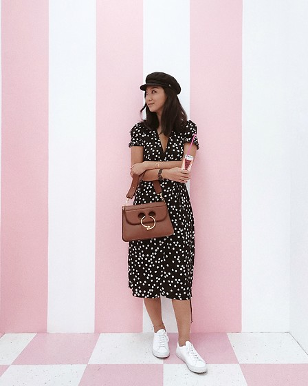 Tiffany Wang - Reformation Dress, Common Projects Sneakers, Brixton Hat, Jw Anderson Purse - MUSEUM OF ICE CREAM