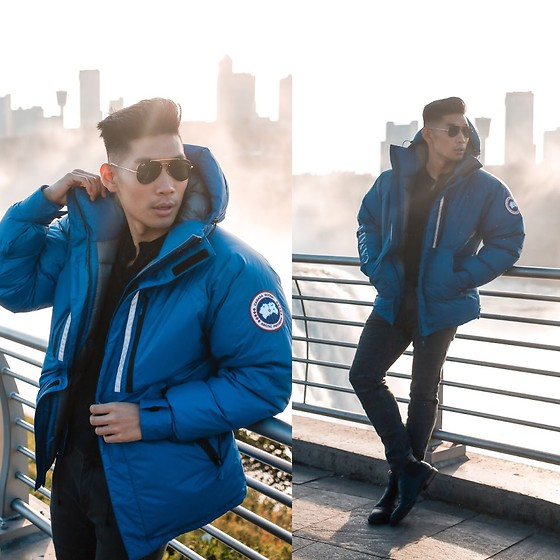 Leo Chan - Prada Teddy Sunglasses, Canada Goose Skreslet Parka, Gordon Rush Chelsea Boots, Levitate Style Stay Warm And Stylish This Winter - Canada Goose Niagara Falls
