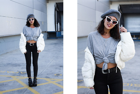 Maray - Zaful Sunglasses, Zara T Shirt, Pull & Bear Pants, Gamiss Boots - Puffy Coat