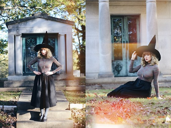 Adrianna Ghost - H&M Skirt, Forever 21 Shirt - Happy Halloween witches