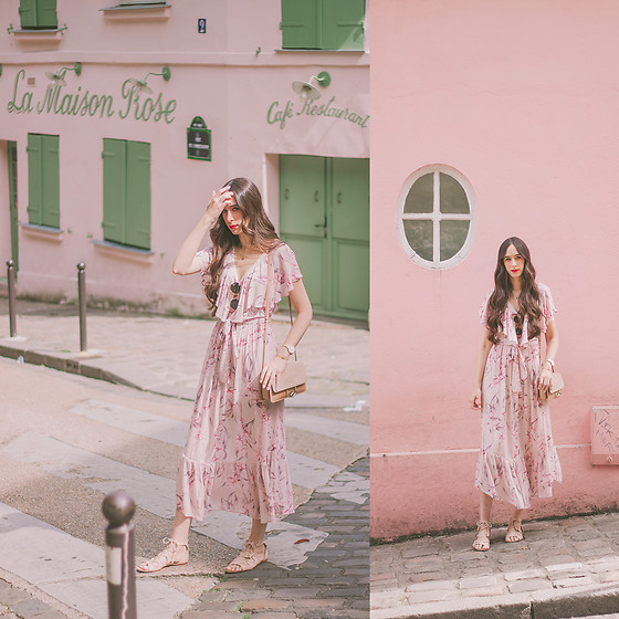 María Rubio - Oysho Dress, Mango Bag, Zara Sandals - La Maison Rose, Paris