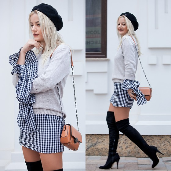 Cristina Tabun - Zaful Dress, Zaful Bag - Gingham lovers