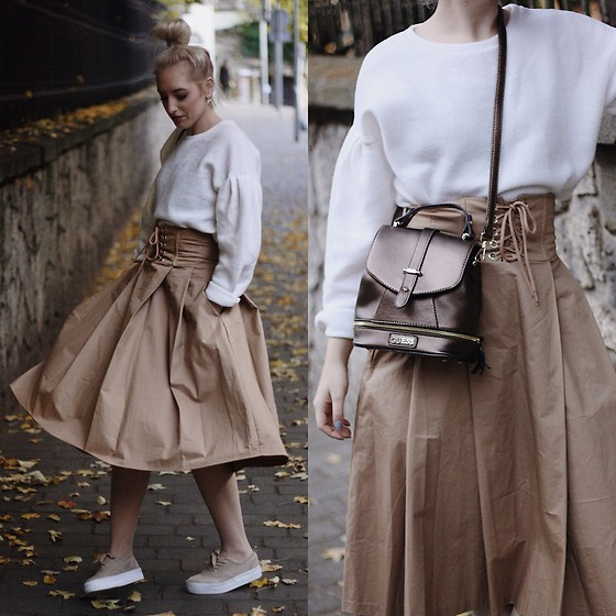 TheKAOZ - H&M Skirt, Primark Pullovee, Guess Bag - Fall looks so nice
