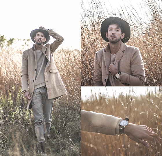 Bobby Raffin - The Idle Man Camel Overcoat, Daniel Wellington Watch - Harvest Mood