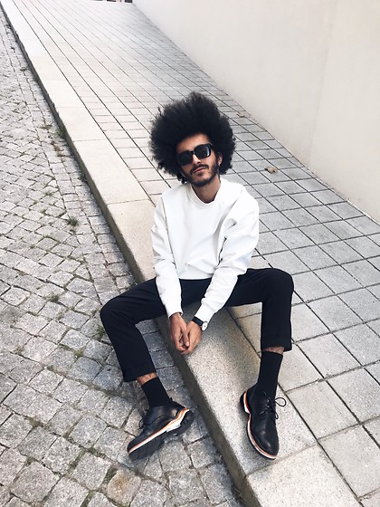 Marco Moura - Zara Shoes, Zara Pants, Bershka Sweater, Asos Sunglasses - Orange line