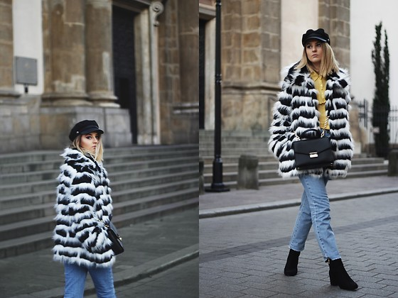 Gabriela Kugla - H&M Hat, Fanaberie Multistore Fur, Na Kd Jeans, Czas Na Buty Shoes - Fur and denim jeans