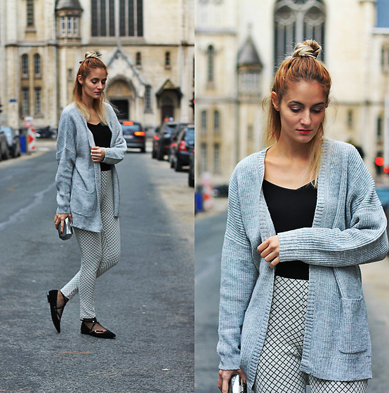 Ruxandra Ioana - Zaful Cardigan, Gatta Blouse - Into the rain