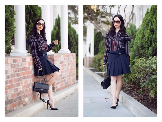 Lisa Valerie Morgan - Storets Blouse, Chanel Bag - Ruffles, Pleats and Thanksgiving Countdown