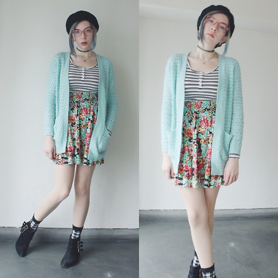 Candy Thorne - Forever 21 Cardigan, H&M Top, Valley Girl Skirt, Shibuya109 Boots - Manic pixie dream girl