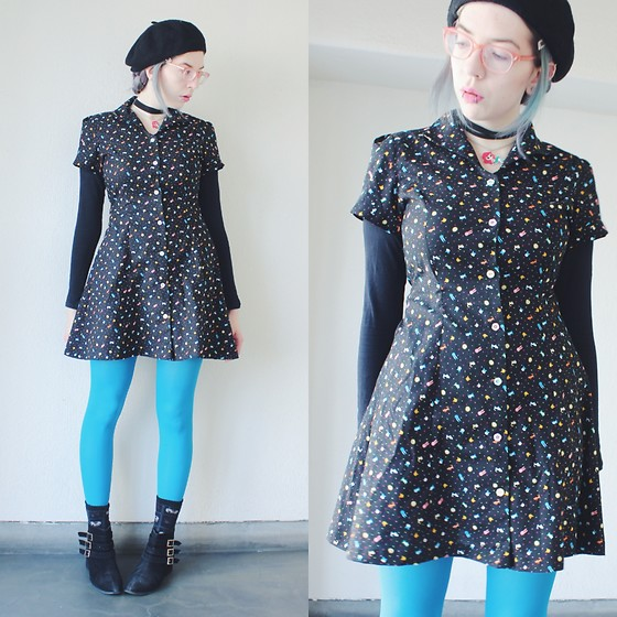 Candy Thorne - Handmade By Me Tiny Creature Dress, Shibuya109 Boots - Tiny zoo