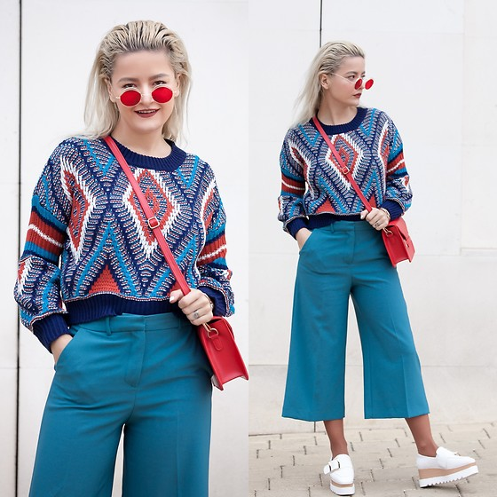 Cristina Tabun - Rosagal Sweater, Rosegal Sunglasses, Gamiss Shoes - Cropped Sweater