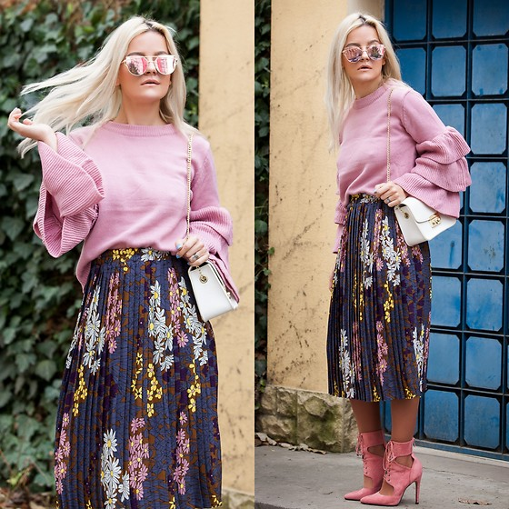 Cristina Tabun - Zaful Sweater, Zaful Skirt - Flouncy Layered Sweater
