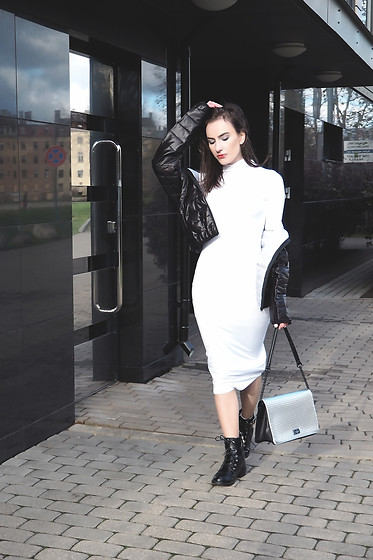 Anna Puzova - Rosegal Jacket, Tosave Dress, Rosegal Boots, Paul's Boutique London Ltd. Bag - MICHAELA