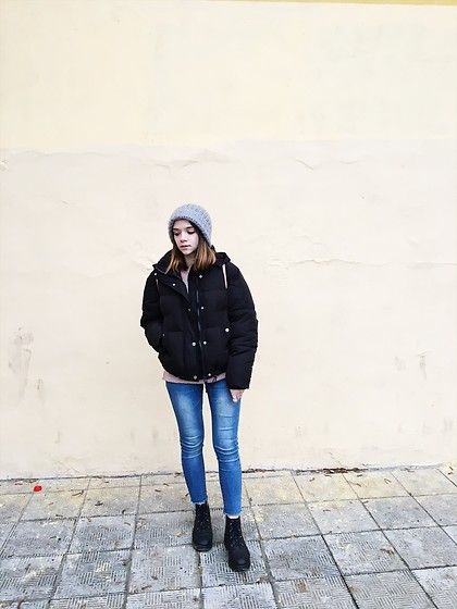 Kristina E. - Bershka Padded Jacket, Shein Skinny Jeans, Asos Chunky Boots - It's cold outside