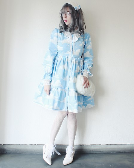 Candy Thorne - Handmade By Me Cloud Dress, Handmade By Me Headdress, H&M Ribbon Shoes, 390 Mart Fluff Bag - Kumo