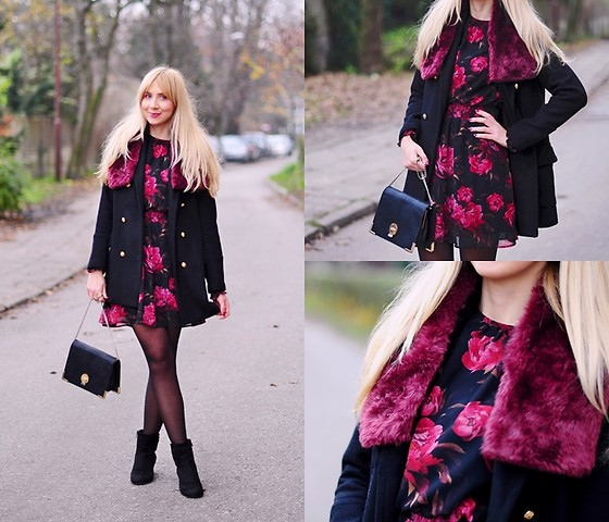 Kasia G. - Zara Coat - Floral dress
