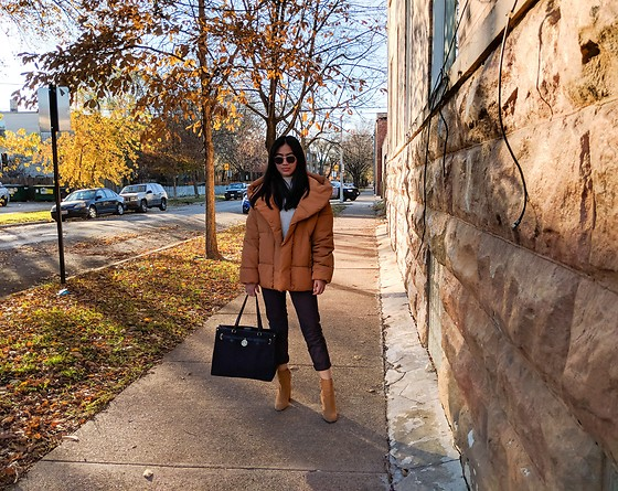 Abbyguel - H&M Padded Jacket, Tommy Hilfiger Handbag, H&M Boots, Old Navy Trousers - Color Me Autumn